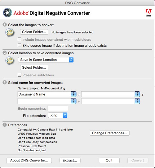 digital negative converter